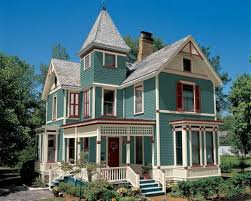 Exterior Gorgeous Cyan Exterior Paint Color With French Windows