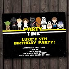 party time with printable star wars birthday invitation with luke
