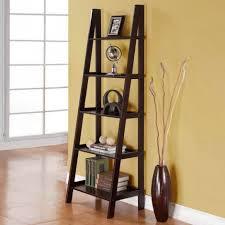 Ladder Bookcase Black by Brown Ladder Shelf Simpli Home Sawhorse Ladder Shelf Bookcase