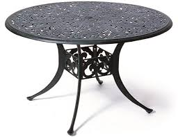48 by 48 table chateau by hanamint luxury cast aluminum patio furniture 48 round