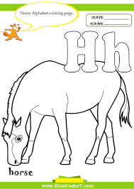 h is for horse coloring page glum me
