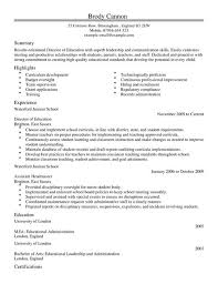 educational resume template director cv exle for education livecareer