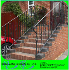 Metal Handrail Lowes Lowes Modern Wrought Iron Outdoor Metal Handrails For Outdoor