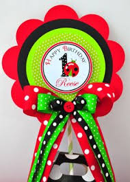 4 piece ladybug party centerpiece embellishment ladybug baby