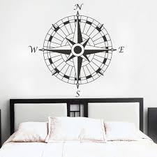 53 nautical wall art captains nautical compass rose 34quot wall nautical compass wall decal office vinyl wall sticker art graphic set