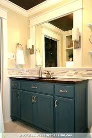 Trim Around Bathroom Mirror Mirror Molding How To Frame A Bathroom Mirror Mirror Molding Diy