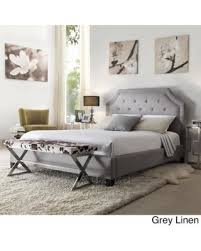 save your pennies deals on grace queen size button tufted arched