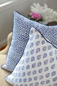 Indigo Home Decor Indigo Block Print Cushions Kalyana Textiles Block Print