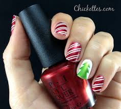 candy cane and christmas tree nail art u2013 chickettes soak off gel