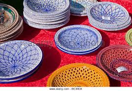 colourful plates for sale stock photos colourful plates for sale