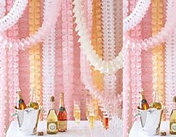 tissue streamers glow hanging garland four leaf tissue paper