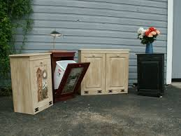 Kitchen Trash Can Ideas Cabinet Double Trash Bin Cabinet Primitive Trash Bin Cabinet