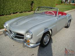 mercedes benz 190sl silver red db180 new interior excellent paint