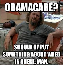 Anti Obamacare Meme - obamacare should of put something about weed in there man the