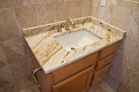 Granite Vanity Tops With Undermount Sink Queen U0027s Gold Granite Bathroom Vanity Traditional Bathroom Dc