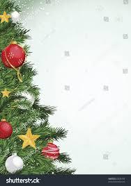 christmas tree border design yellow gold stock vector 63076150