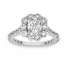 flower halo engagement ring henri daussi cushion cut flower halo engagement ring