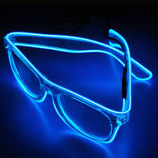 party sunglasses with lights flashing el wire led glasses luminous party decorative glasses gift