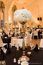 candelabra centerpiece white hydrangea and silver candelabra centerpiece the