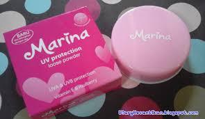 Bedak Marina diary kecantikan review marina uv protection powder