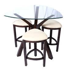 glass pub table and chairs glass bistro table set bistro