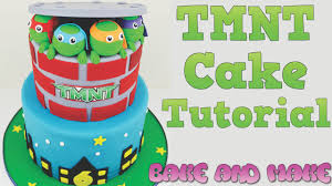 how to make a tmnt birthday cake tutorial bake and make with