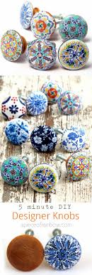 how to paint kitchen knobs 5 minute anthropologie knobs knockoff beautiful drawer