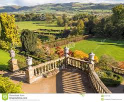 classical garden country estate landscape royalty free stock photo