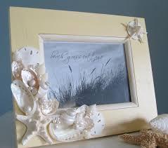 beach seashell frame nautical home decor shell frame in ivory