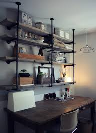 simple and effortless rustic shelving home decorations