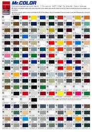 mr color chart jpg 1200 1724 movie scale model pinterest