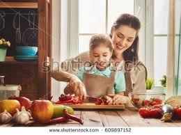 healthy food home happy family kitchen stock photo 609897152