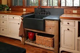 Rustic Kitchen Sink Decoration Black Farmhouse Kitchen Sinks Bradham Open Shelves