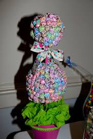 Candy Topiary Centerpieces - centerpiece twobellesevents