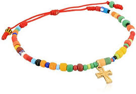 bead bracelet with cross images Mercedes salazar multi colored beaded cross charm bracelet where jpg