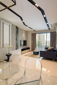 asymmetrical apartment design with undulating surfaces in