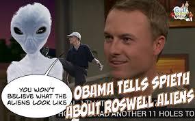 Aliens Meme Video - video during golf barack obama tells jordan spieth what roswell