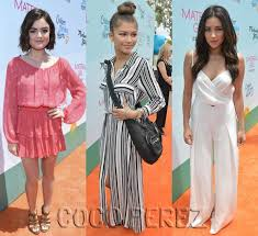 lucy hale zendaya and shay mitchell show off their summer ready
