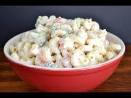 pasta salad with mayo creamy pasta salad recipe mayonnaise youtube