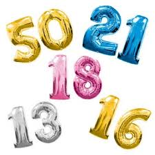 number balloons delivered large birthday numbers helium filled delivered special ages 18th