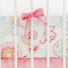 Mix And Match Crib Bedding Paisley Crib Sheet Coral Crib Fitted Sheet Aqua Crib Sheet