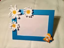 cornici fatte a mano cornice portafoto azzurra bambino con decorazioni fatte a
