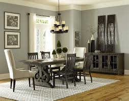 Pine Dining Room Set by Magnussen Home Bellamy Transitional Double Pedestal Dining Table
