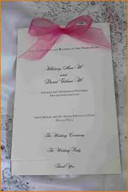 one page wedding program one page wedding program template authorization letter pdf