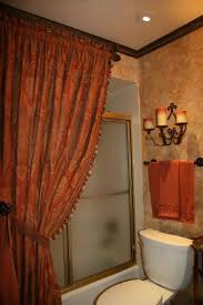 bathroom with shower curtains ideas sophisticated tuscany shower curtain world styled bathroom of