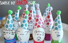 decorated egg shells diy easter party ideas 2015