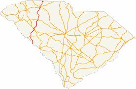 Blank Sc Map by U S Route 221 In South Carolina Wikipedia
