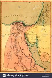 Gulf Of Aqaba Map Map Of Egypt Stock Photo Royalty Free Image 57920906 Alamy