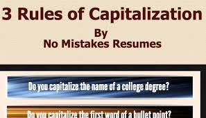 3 rules for capitalization on resumes jim giacomo giammatteo
