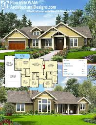 plan 69605am 3 bed craftsman with tapered columned porch